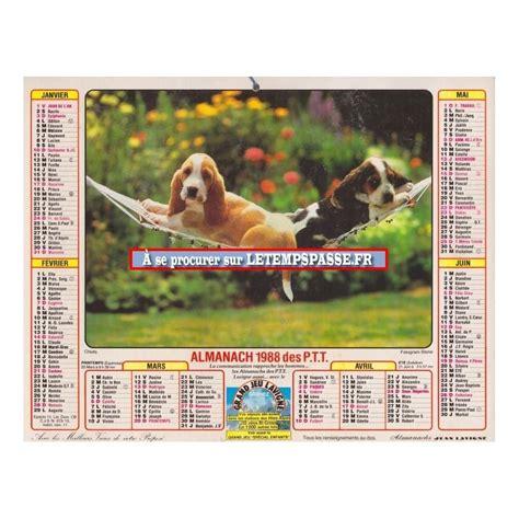 Calendrier De 1988 Achetez Calendrier Poste De 1988 Calendriers Anciens