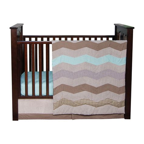 Trendy Cribs by Trend Lab Cocoa Mint Crib Bedding Collection Baby