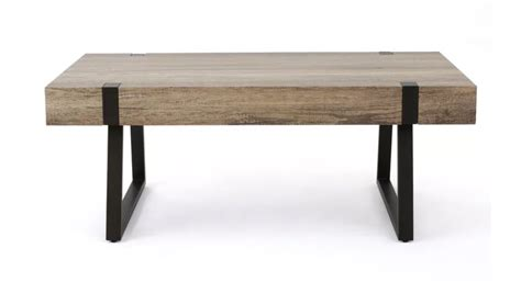 grey faux wood coffee table captured event design