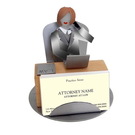 Attorney Female Business Card Holder Lawyer Desk Accessories