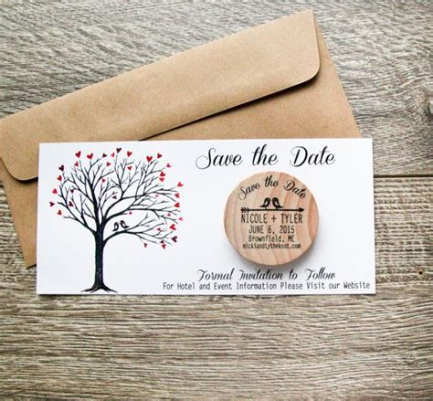 rustic wedding save the date magnets 50 custom birds rustic wood save the date invite