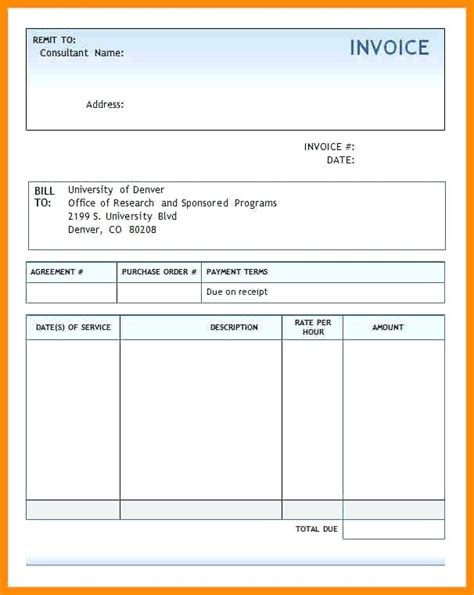 creating an invoice template format of invoice in word sle invoice invoice template