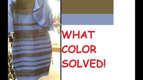 color of dress what color is this dress illusion solved