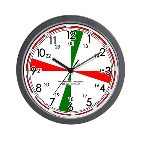 replica ships radio room wall clock white by time2buy