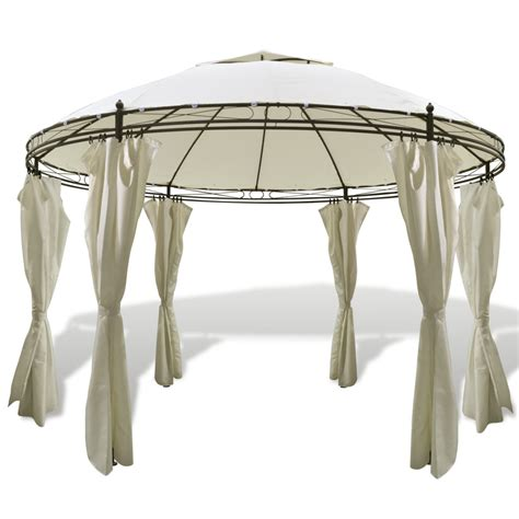 round gazebo with curtains vidaxl round gazebo with curtains 11 5 x 8 9