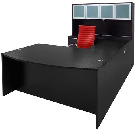 black u shaped desk black conference u shaped office desk with hutch