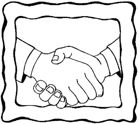 coloring page of shaking hands handshake 9 free printable hand coloring pages