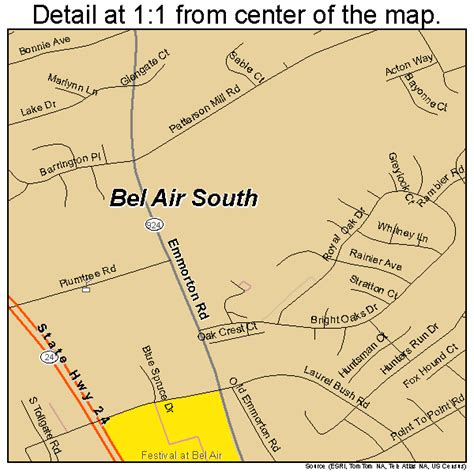 maryland map bel air bel air south maryland map 2405950