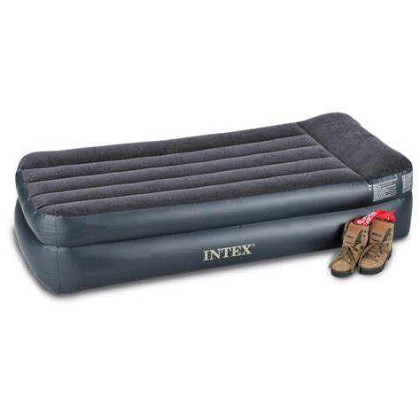 intex bed intex twin air bed mattress with built in electric pump 131678 air beds at