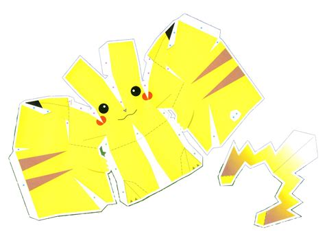 Simple Papercraft Templates - anime papercraft templates pikachu alternative versions