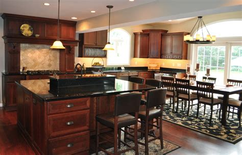 Kitchen Cabinets With Black Granite Countertops by Stunning Cherry Kitchen Cabinets Black Granite Countertop