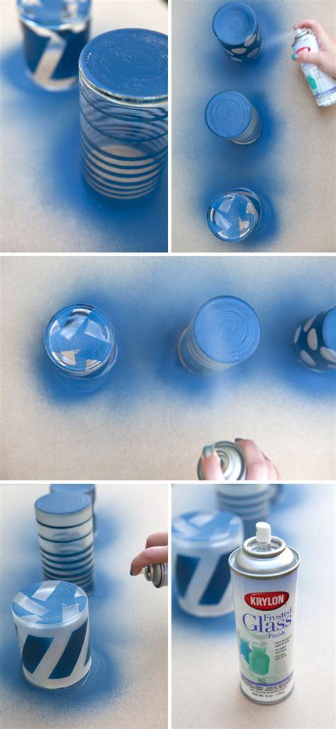 eu e design diy fvm painted frosted gllass jars pintura efeito congelado em vidros