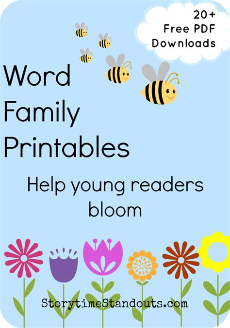 Free Printable Word Family Poems