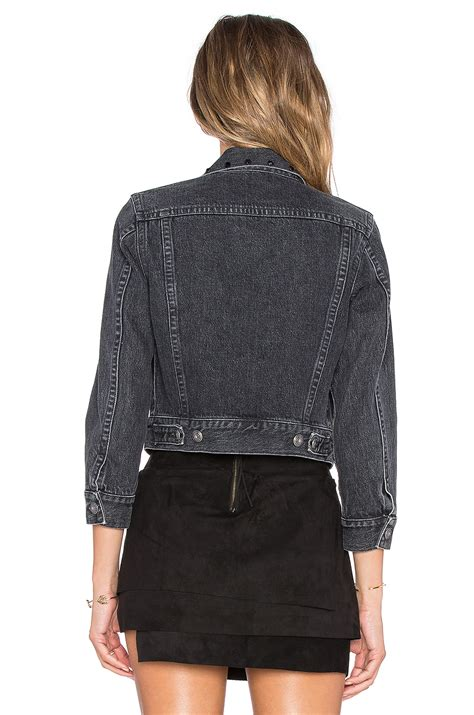 Denim Jackets For by Lyst Marc By Marc Cropped Denim Jacket In Black