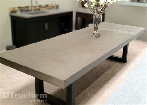 Concrete Dining Table Top Contemporary Custom Dining Table With A Metal Base And Concrete Dining Table Top