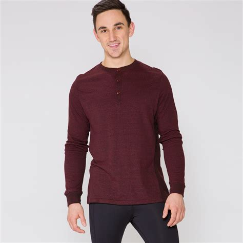 Sleeve Henley threads 4 thought sleeve henley thermal shirt mens