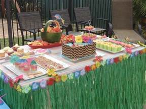 hawaiian pool party birthday party ideas photo 1 of 9 catch my party