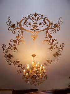 beautiful ceiling stencil diy