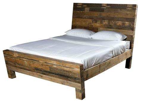 Reclaimed Wood Platform Bed Angora Reclaimed Wood Platform Bed Platform Beds By Zin Home