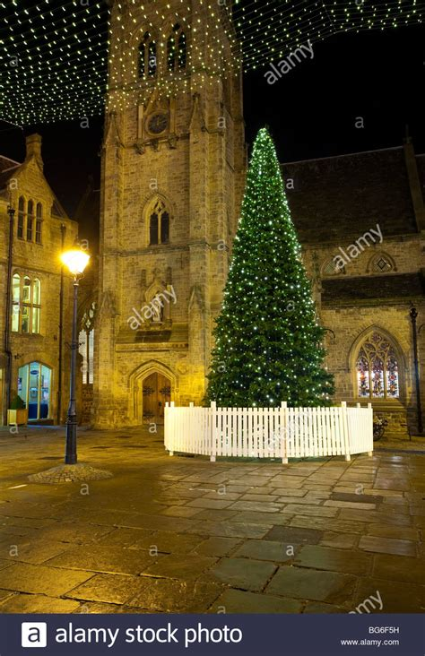 england county durham durham city christmas tree in the