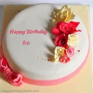 roses happy birthday cake for iris
