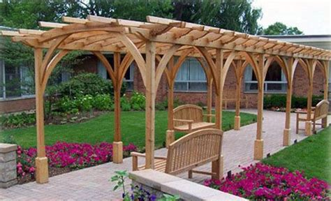cool pergola ideas cool pathway pergola design garden