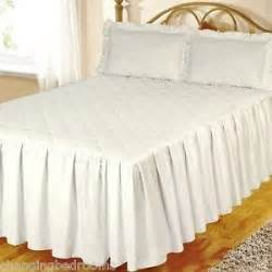 Quilted Bedspreads Sale White Fitted Cotton Quilted Bedspread Pillowsham