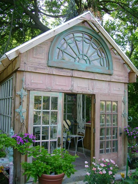 Garden Shed Windows Designs Dishfunctional Designs Greenhouses Made With Salvaged Windows