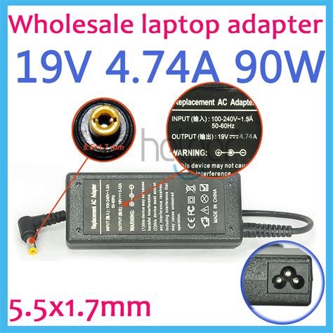 Adaptor Acer 19v 3 42a Hipro Black 19v 4 74a laptop ac adapter power supply for acer ap 09000