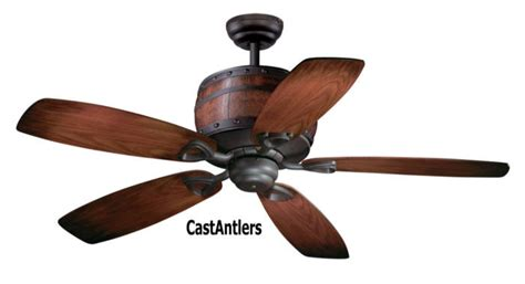 wine barrel ceiling fan standard size fans 52 quot wine barrel ceiling fan rustic