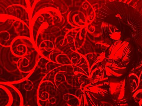 wallpaper anime red red anime wallpaper wallpapersafari