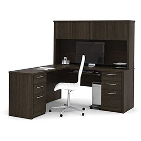 bestar embassy 71 quot l desks office collections bestar 174 l shaped desk and hutch 66 quot chocolate embassy