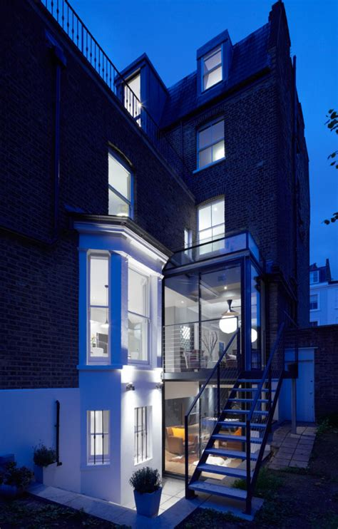 Modern Glass Extension On A 5 Story London Townhouse