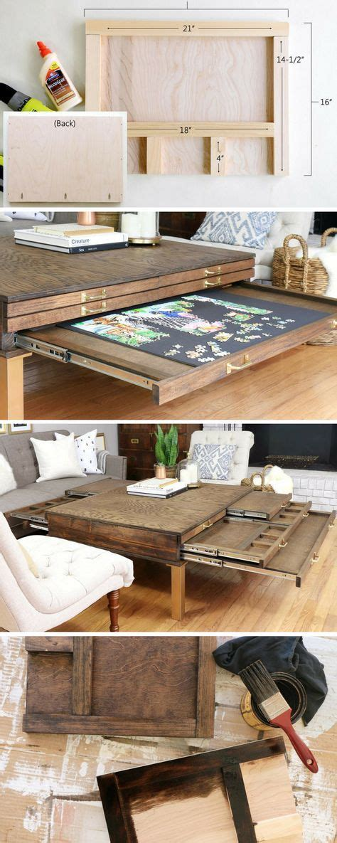 build  diy coffee table  pullouts  board