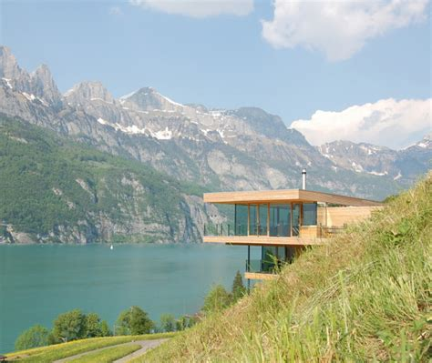 contemporary swiss chalet by k m architektur modern
