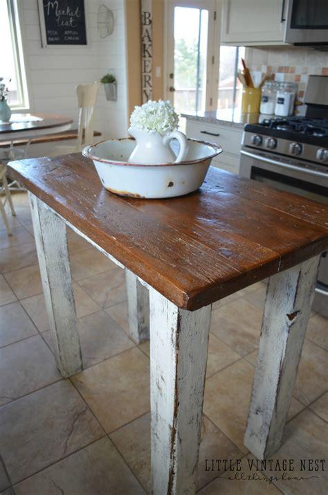 rustic kitchen island rustic kitchen island vintage nest