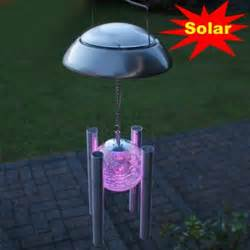 outdoor solar hanging lights new windbell canula shape led solar light outdoor