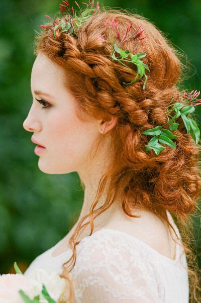 Bridal Hairstyles For Red Hair | gorgeous bridal hairstyles for red hair