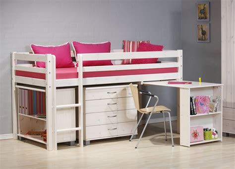 childrens bed with desk kids beds with storage and desk home improvement