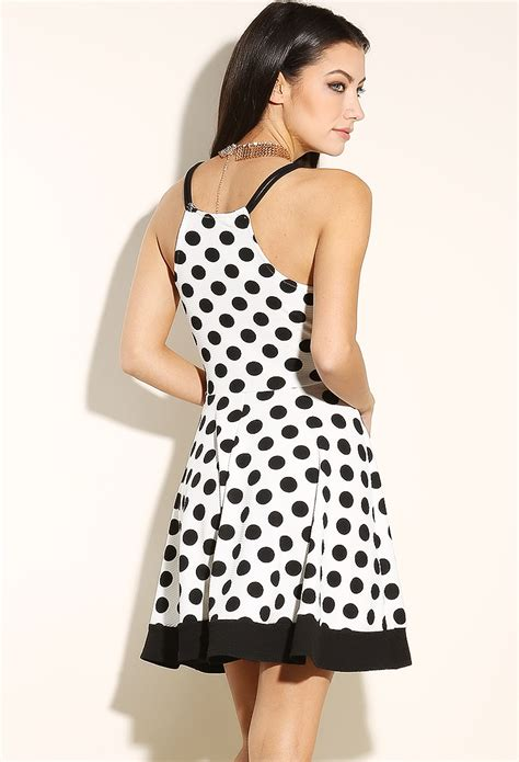 Minidress Polka Spandek polka dot mini cami dress shop dresses at papaya clothing
