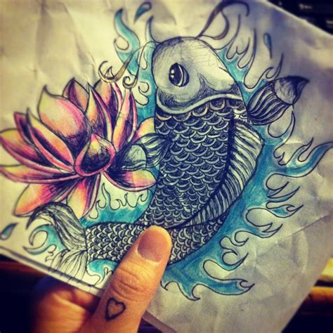 koi fish with lotus flower tattoo designs koi fish lotus flower lotus flower
