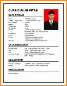6 contoh curriculum vitae fresh graduate driver resume