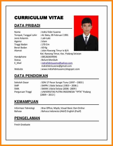 Contoh Application Letter With Curriculum Vitae 6 Contoh Curriculum Vitae Fresh Graduate Driver Resume