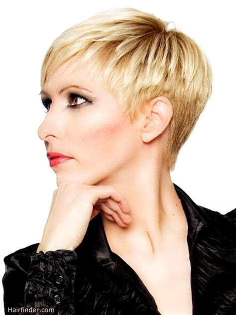 side view of pixie hairstyles strong and feminine short haircut styled for a chic and