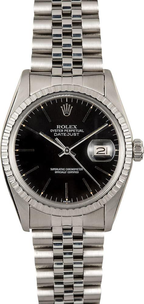 Rolex Steel Datejust rolex datejust steel 16030 black