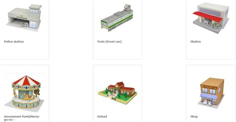 Canon Creative Park Papercraft - paper towns paper houses free resources for paper houses