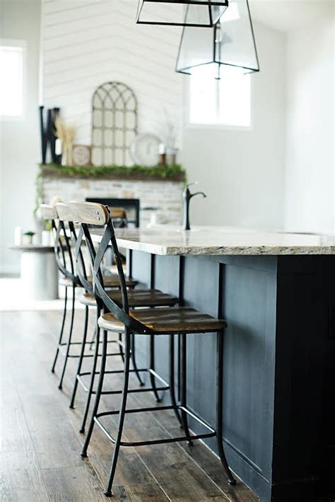 contemporary stools for kitchen island thediapercake home trend modern farmhouse home tour with household no 6