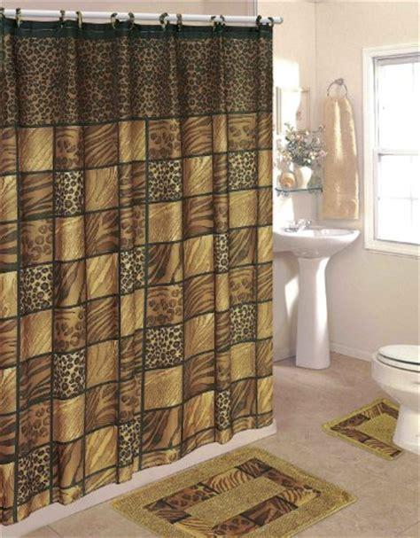 Shower Curtain Bathroom Sets Bathroom Sets Leopard 15 Bathroom Set 2 Rugs Mats 1 Fabric Shower Curtain 12 Fabric