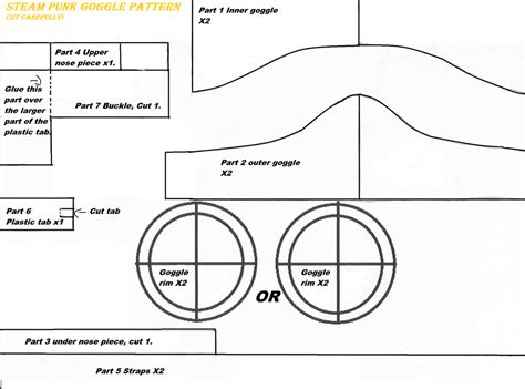 How To Make A Paper Pilot Hat - steam goggle pattern revise by saskia105 on deviantart