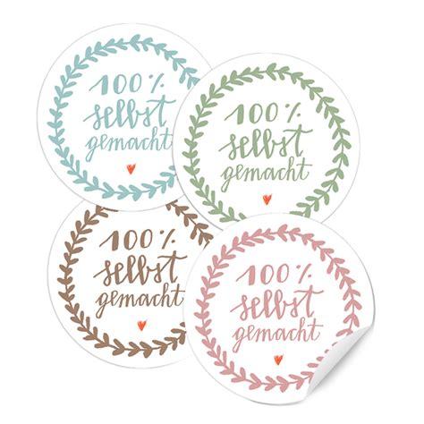 Aufkleber Selbstgemachte Marmelade selbst gemacht 24 sticker 4cm etiketten pastellt 246 ne